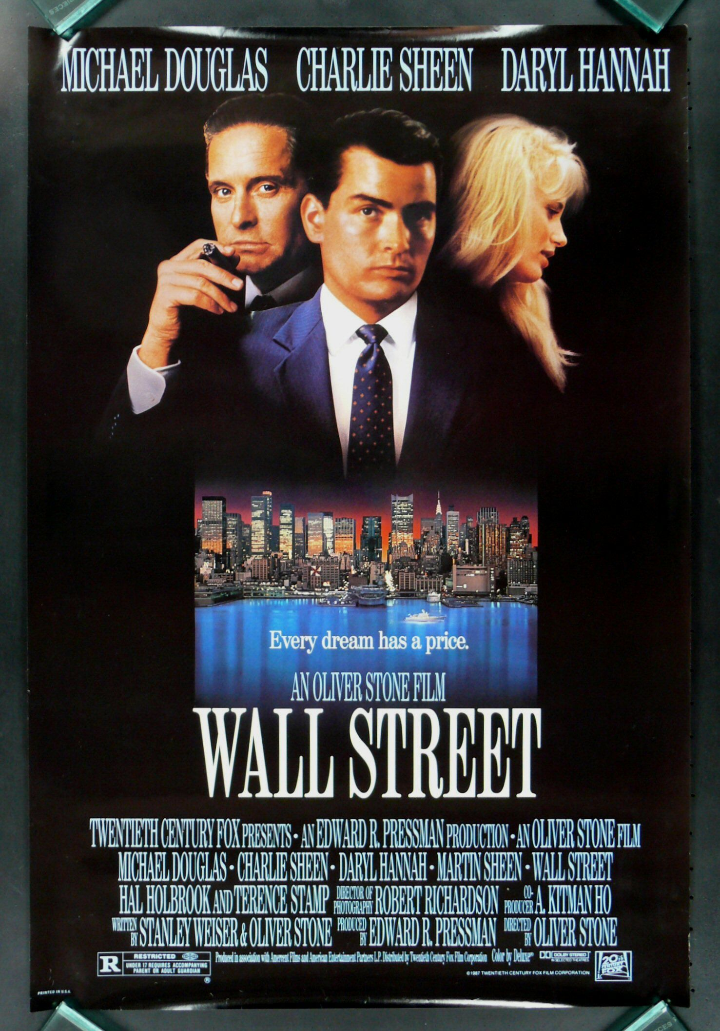 1987 film. A young and impatient stockbroker is willing to