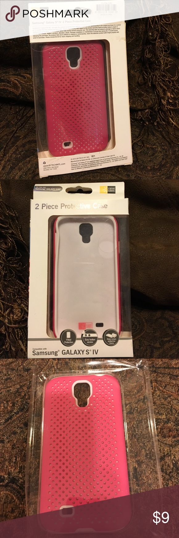 Samsung Galaxy's 5 Case Samsung Galaxy S 5 protective 2 piece cell phone case. New in box never been used. Case Logic Accessories Phone Cases