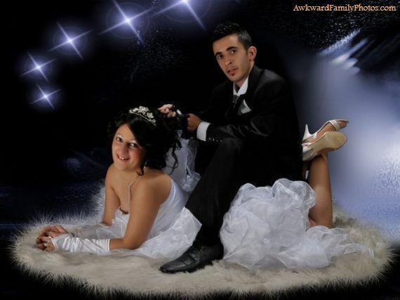 awkward wedding photo