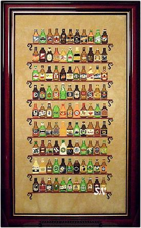 99 Bottles Of Beer On The Wall Cross Stitch