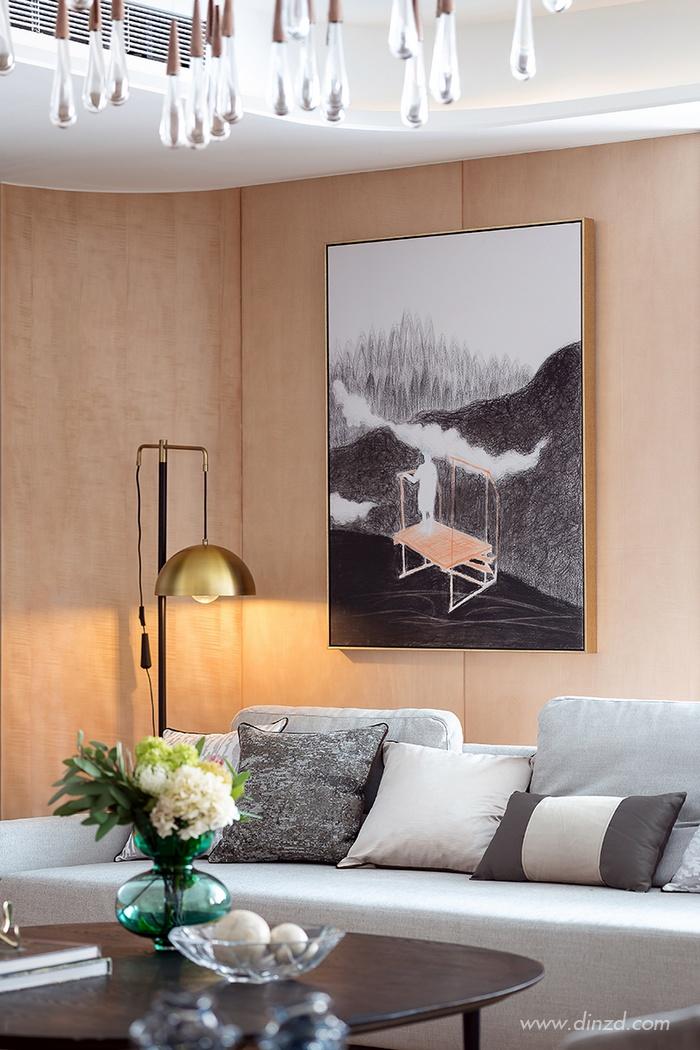 泰安中齐国山墅253㎡自然艺术样板房 戴勇室内设计师事务所
