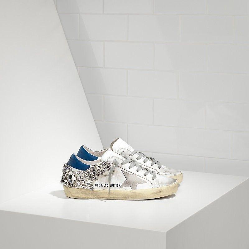 ce7e2251839d 56 Women s Super Star in White Blue Sale - Golden Goose Deluxe Brand  Sneakers outlet ver online application form season sale