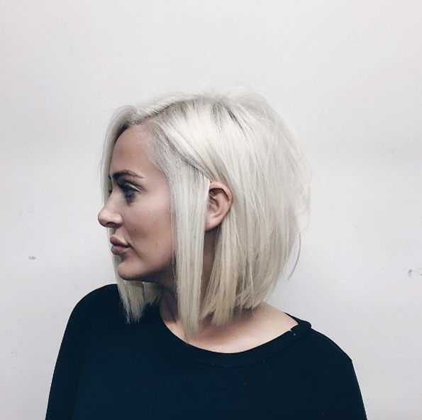 Silver blonde bob by Dominick Serna
