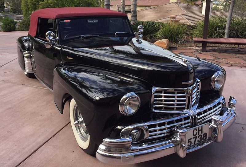 Right-hand-drive 1948 Lincoln Continental