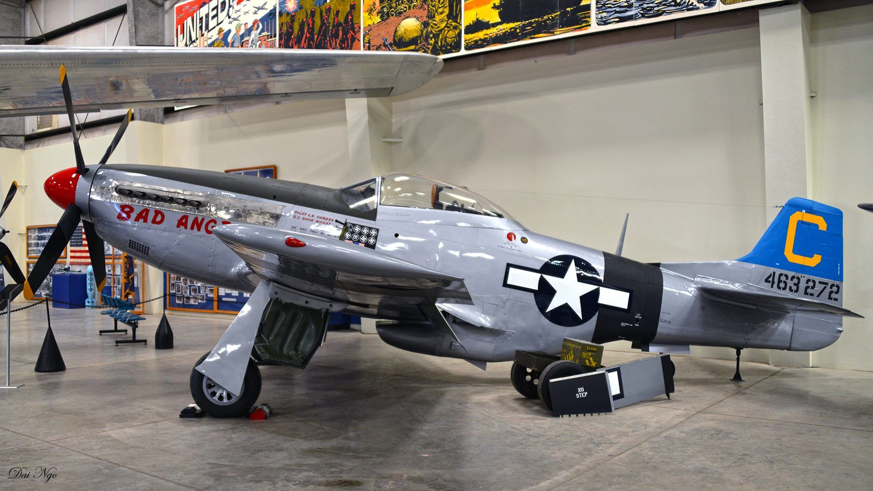 """p-51d """"bad angel"""" the markings are from the 3rd air commando group"""