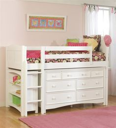 French Provincial Dressers Underneath Loft Bed Google Search