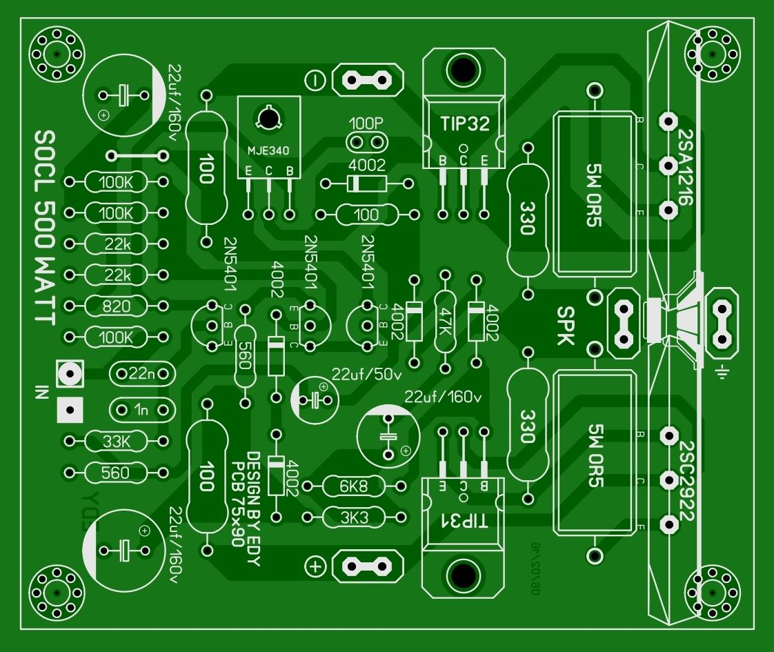 gerber file power amplifier classd d4k5 in 2018 pcb39s layout. Black Bedroom Furniture Sets. Home Design Ideas