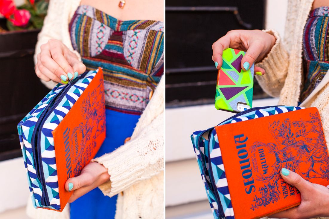 How To Make A Book Clutch With Zipper ~ How to turn a vintage book into a clutch via brit co better
