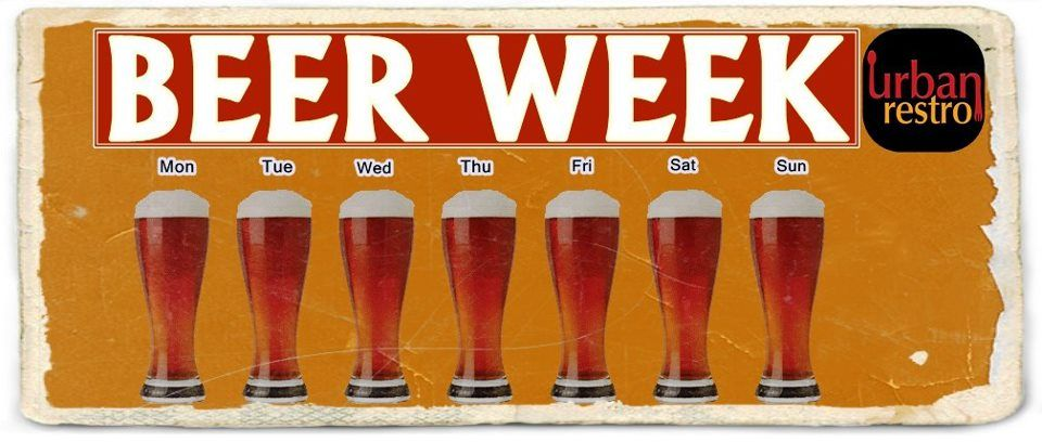Check out the beer fest week at www.urbanrestro.com