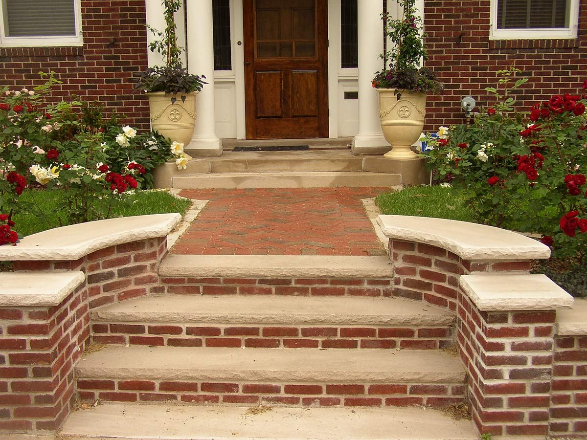 Best Brick Stone Masonry Steps Brick Steps Porch Design 400 x 300