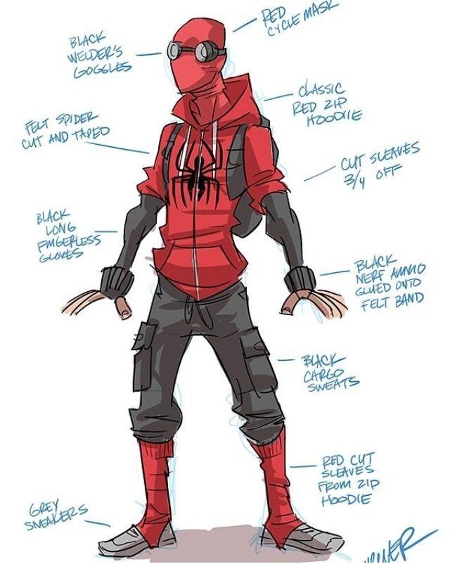 a06238f9d8dea Spiderman vigilante | Spider-Verse | Spiderman suits, Spiderman ...