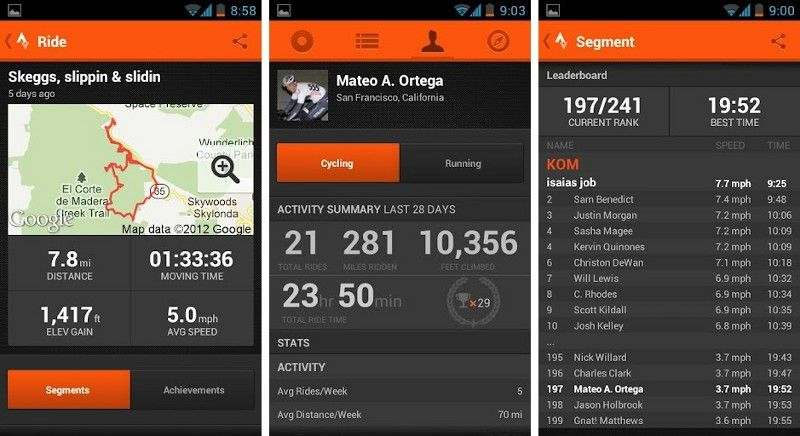 Best Android Apps For Biking And Cycling Deportes Entrenamiento