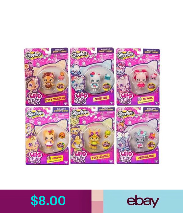 Character Toys Shopkins Wild Style Shoppet Choose From List Ebay Collectibles Shopkins Wild Style Wild Style Shopkins