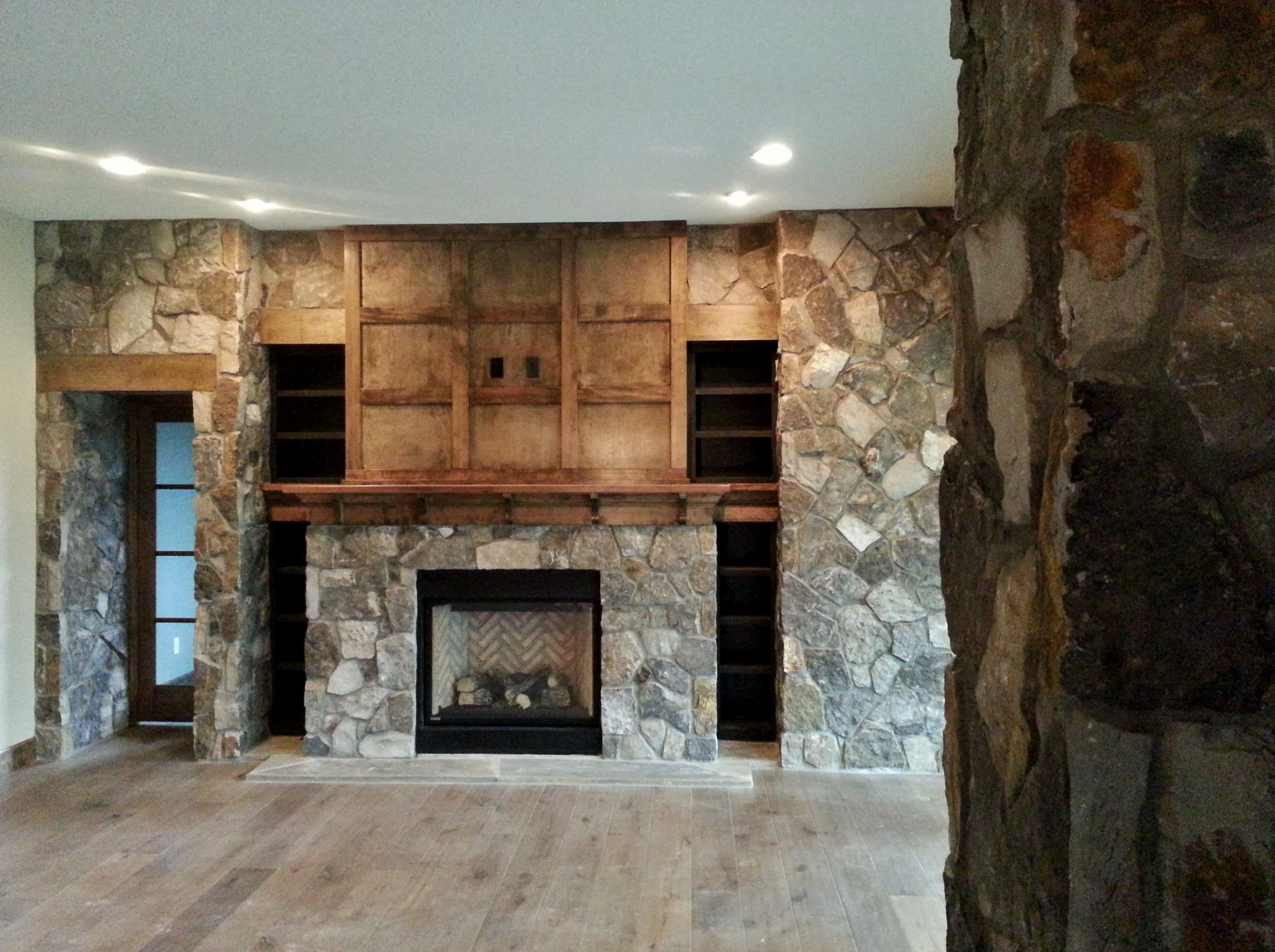 Natural Stone Gas Fireplace Stone Veneer Interior