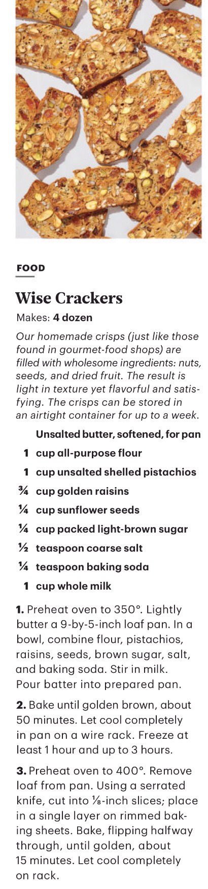 Wise Crackers From Martha Stewart Living March 2016