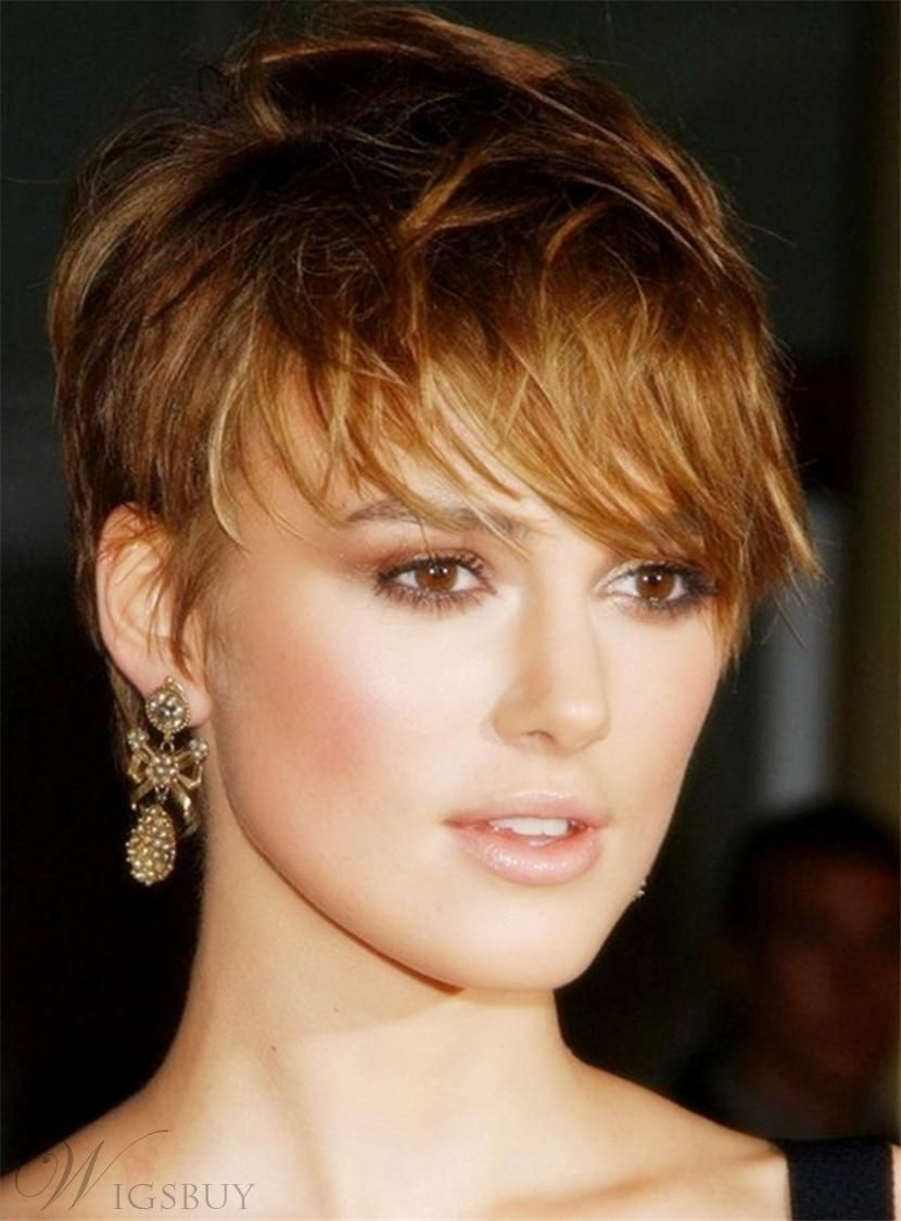 #mothersday #AdoreWe #WigsBuy   WigsBuy Keira Knightley British Elegant  Charming Layered Pixie Capless Straight Short Celebrity Human Hair Wigs 6  Inches ...