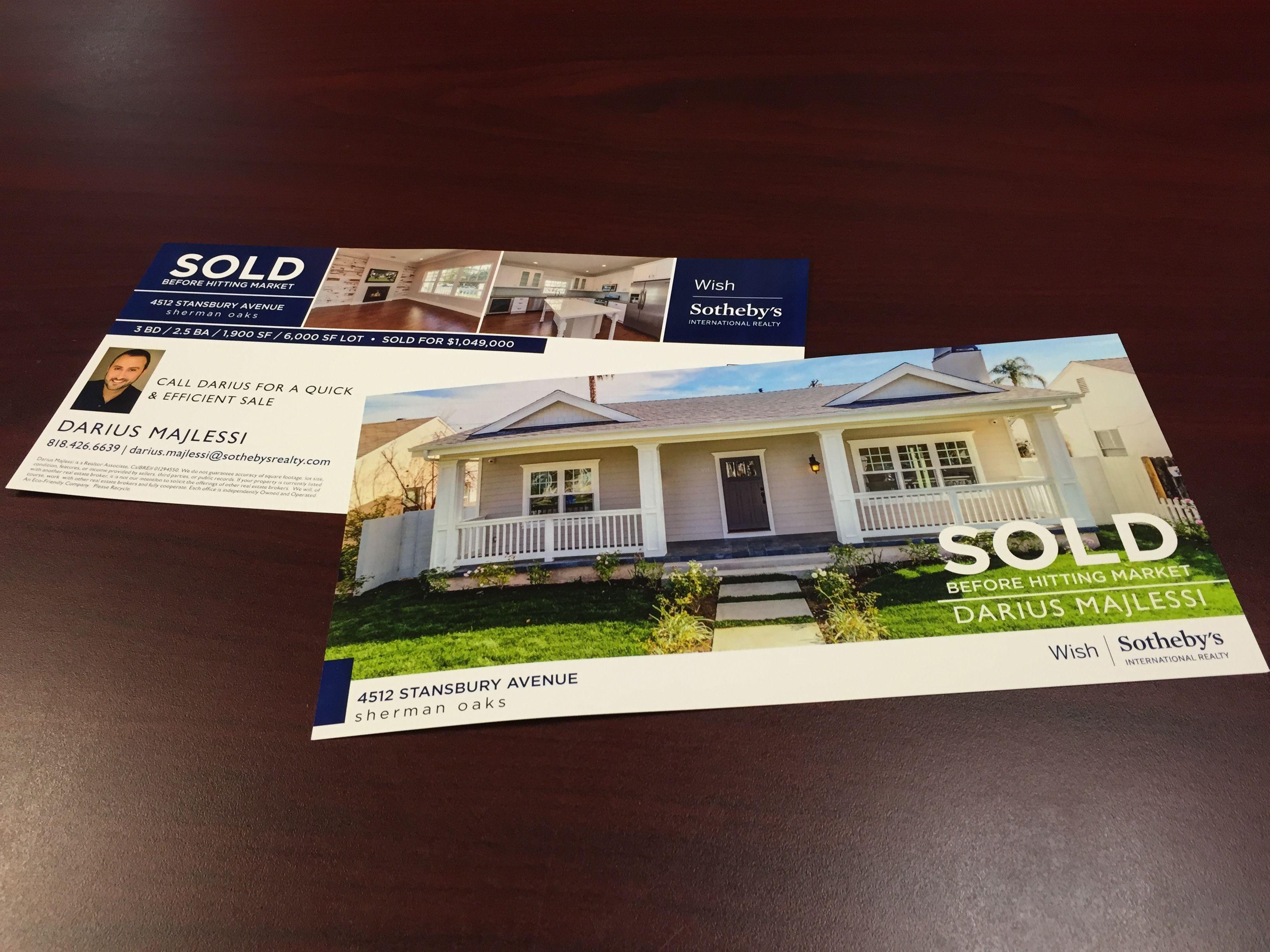 real estate postcards just listed just sold marketing design