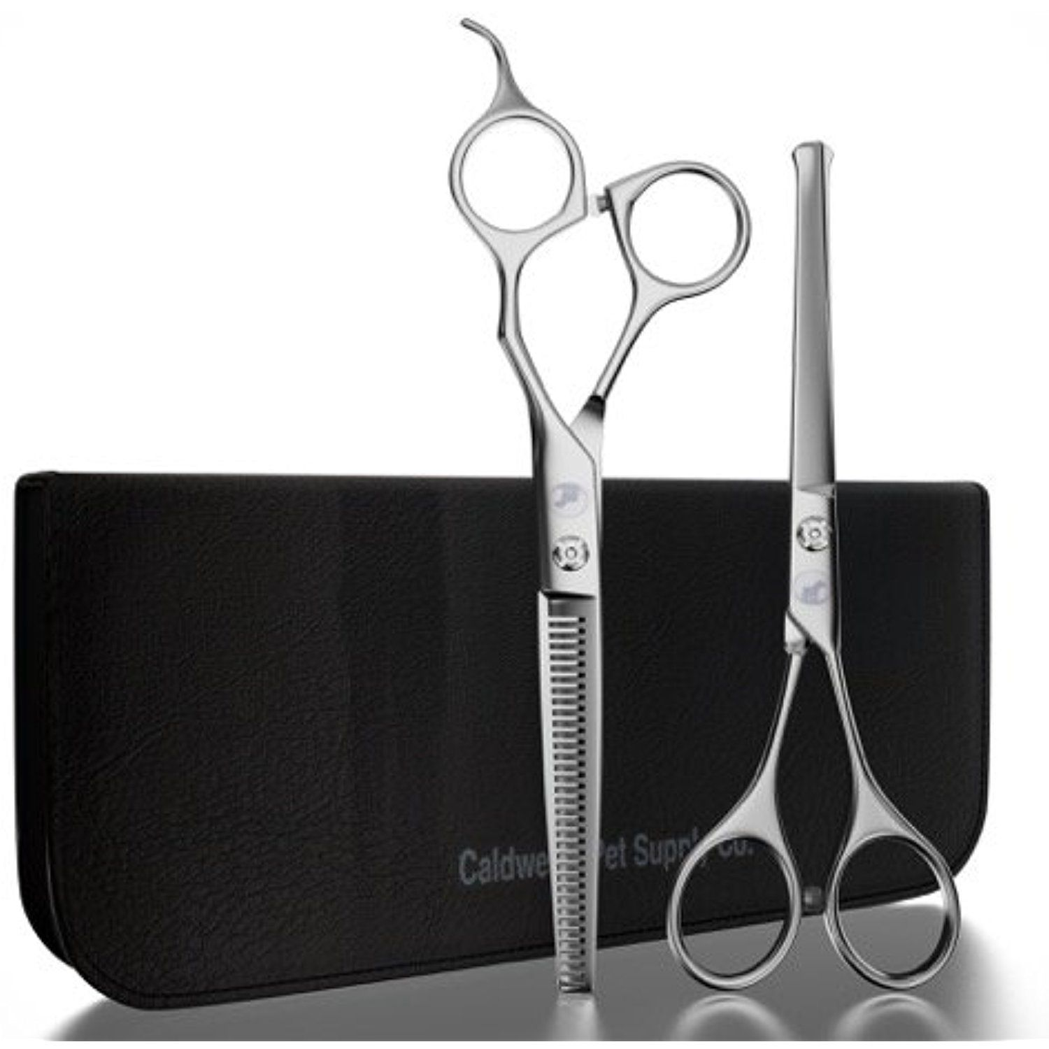 Caldwell's Long and Short Haired Cat and Dog Grooming Scissors - Set of Two - 1 Pair Pet Thinning Shears with 1 Pair Round Tip / Ball Tip Safe Edge Trimming Shears - Stainless Steel -- To view further for this item, visit the image link. (This is an affiliate link) #Grooming