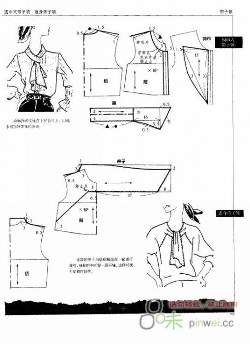 blouse | Blusas / blouses | Pinterest | Patrones, Patronaje y Costura
