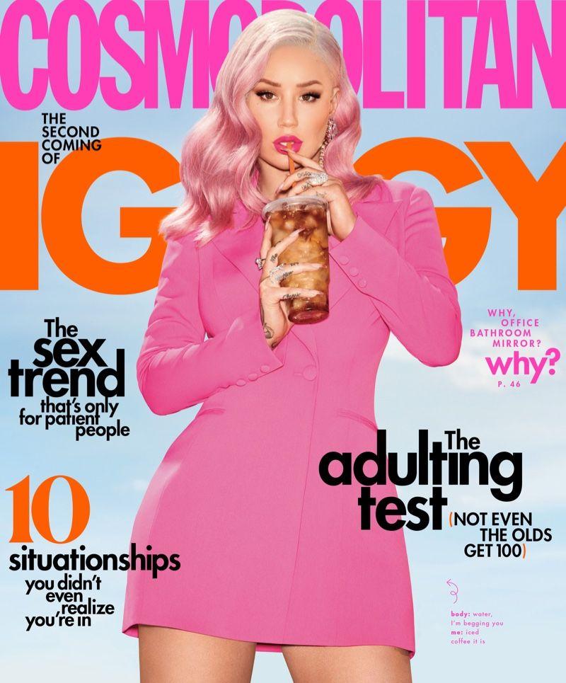 Iggy Azalea Looks Pretty in Pink for Cosmopolitan ...