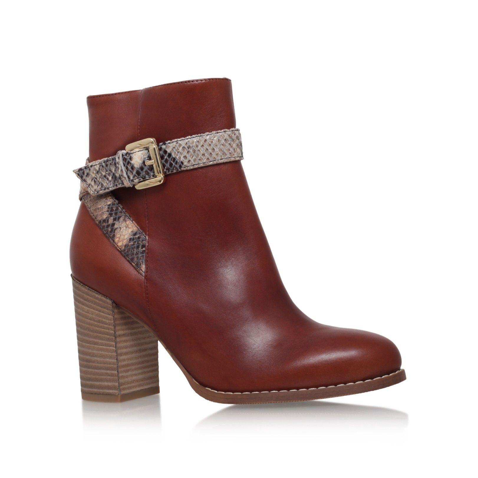 432b3282f78 slip tan mid heel ankle boots from Carvela Kurt Geiger