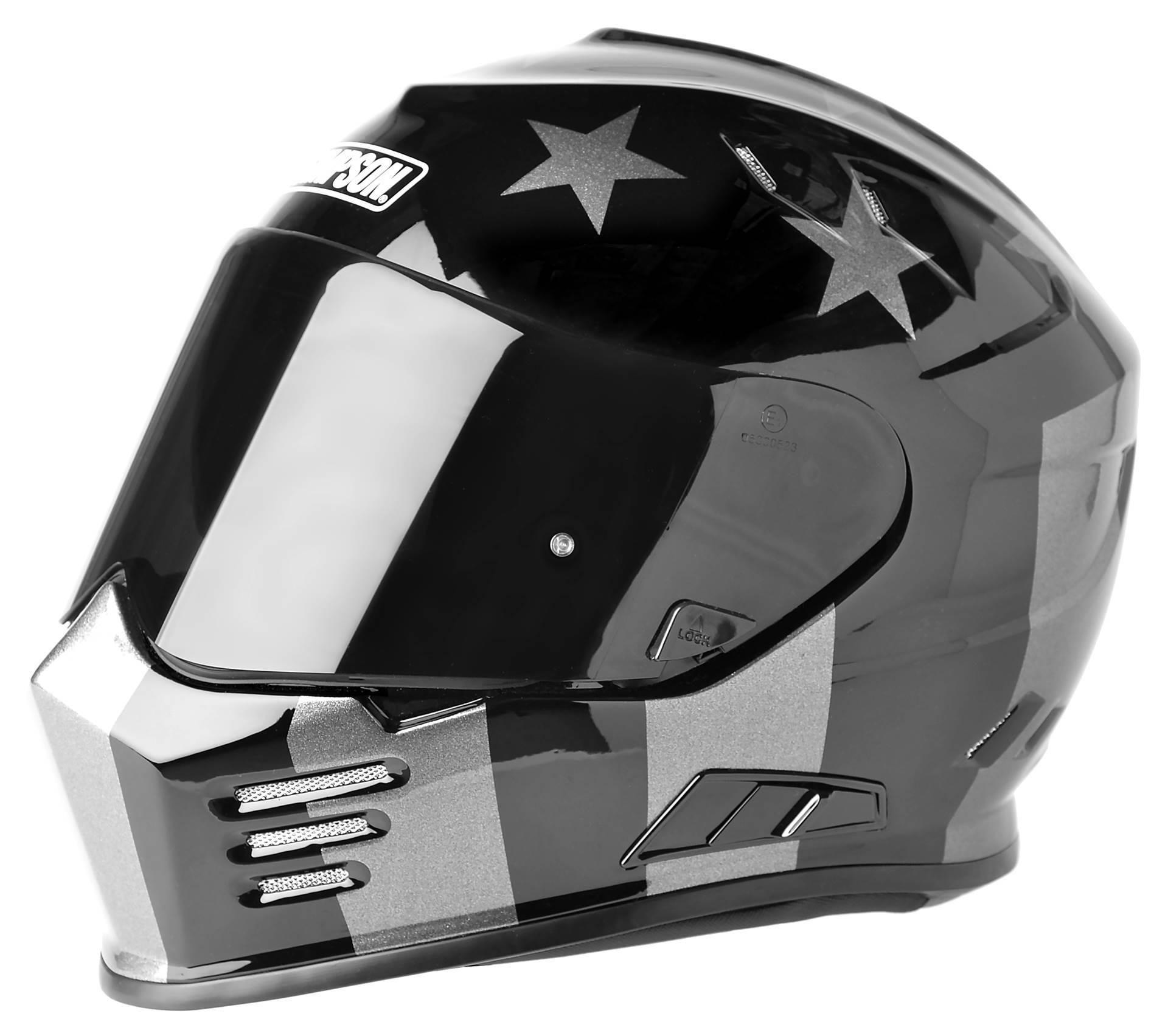 Simpson Helmets Outlaw Bandit DOT Approved Helmet Gloss Black - Custom motorcycle helmet stickers and decalssimpson motorcycle helmets