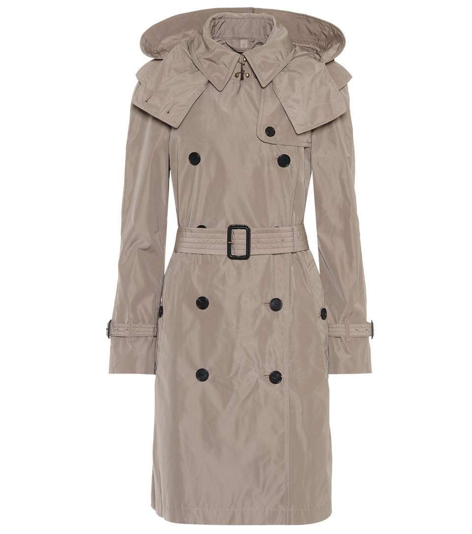 BURBERRY Technical fabric trench coat. #burberry #cloth #