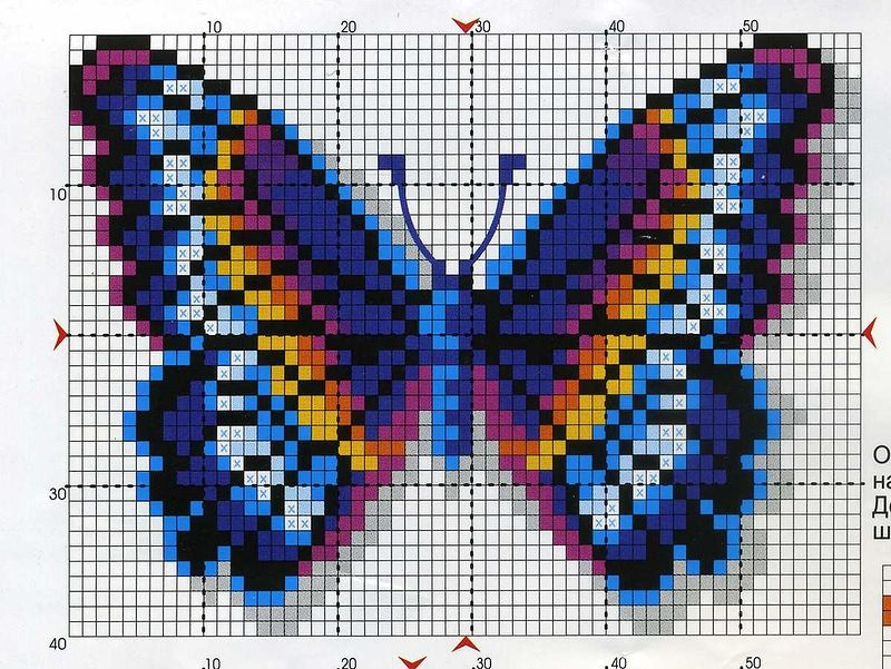 picture only butterfly perler bead pattern crafts for