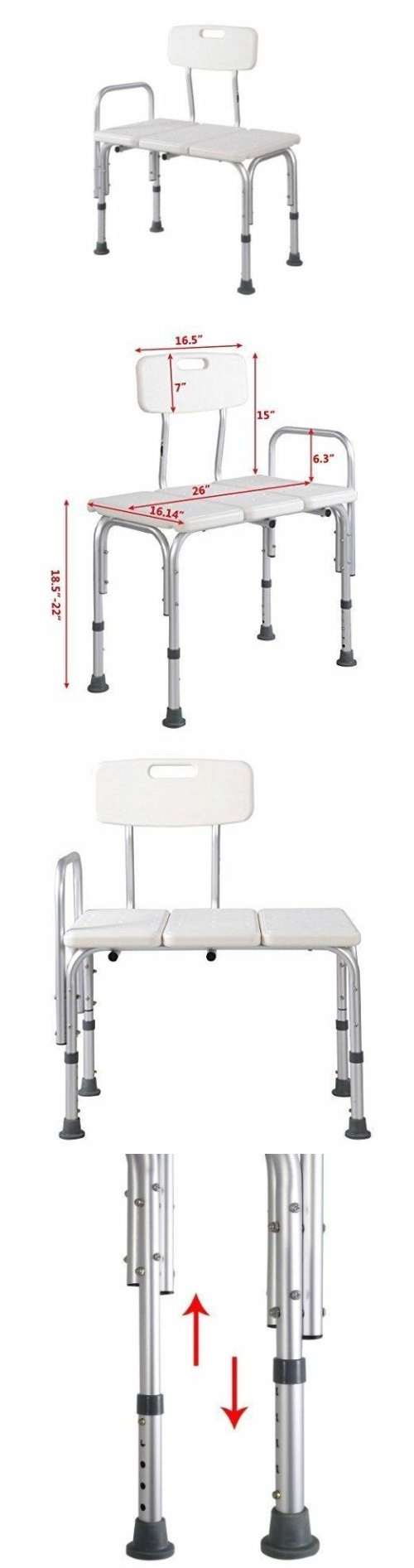 Transfer Boards and Benches: Shower Bath Seat Medical Adjustable ...