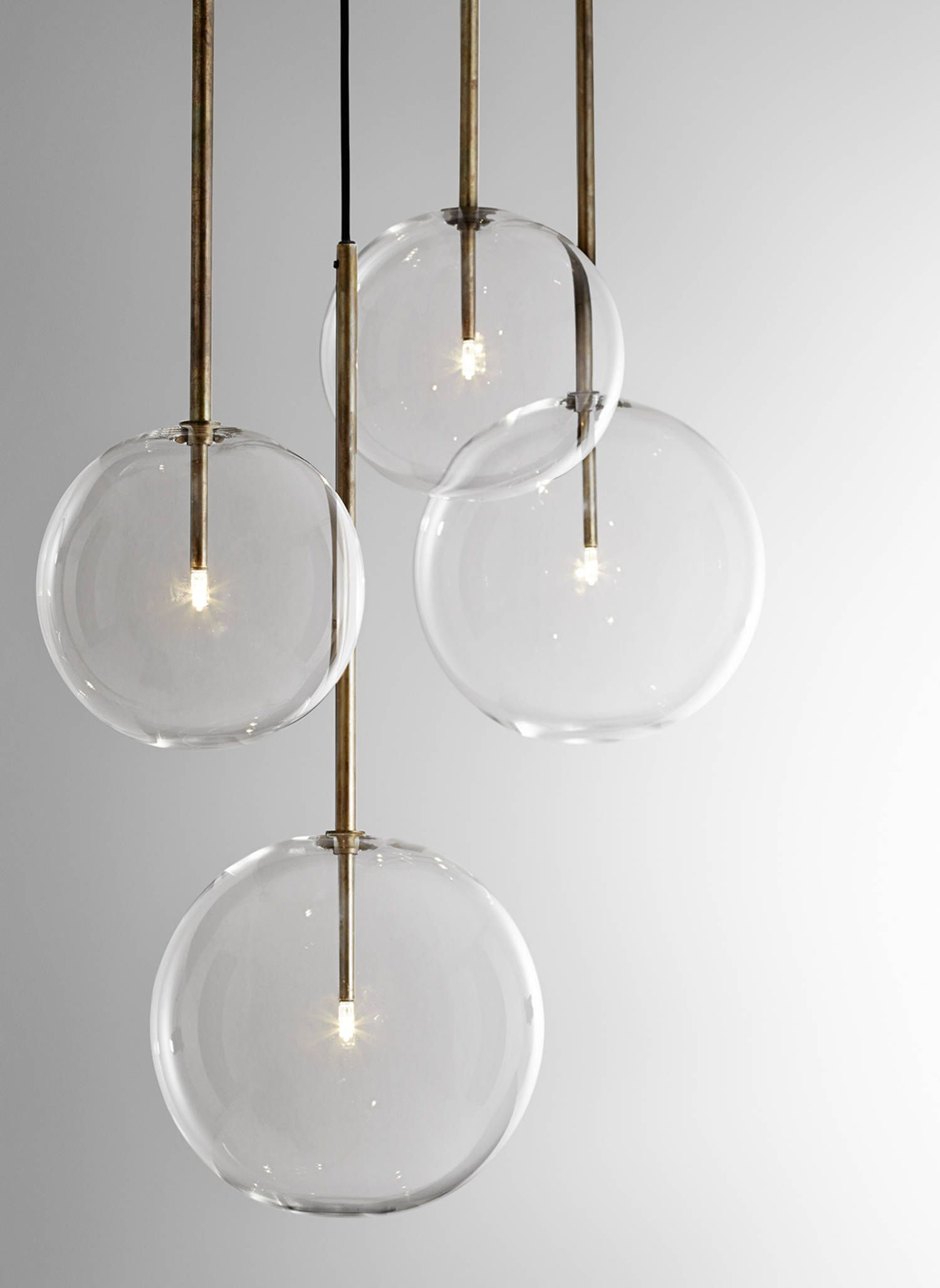 Lustre Moderne Transparent Bolle Sola Lighting Beleuchtung Luminaires Design