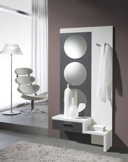 affirmez votre style contemporain des votre entre avec ce meuble stori et profitez de sa fonctionnalit miroirs tiroir portes manteaux tablette