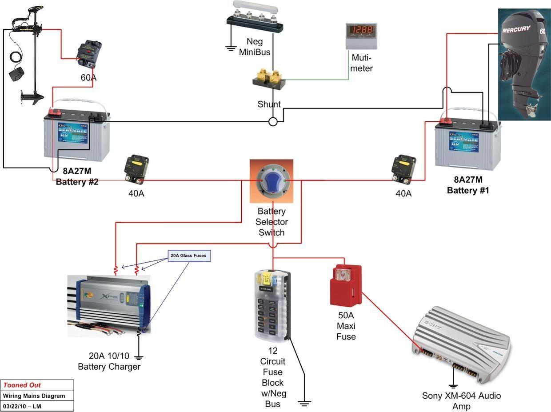 3 battery boat wiring diagram 12 lead motor jon all data fishing pinterest and mercruiser 5 7 harness