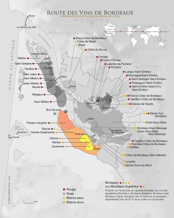 Carte Route Des Vins Bordeaux.Decouvrir La Route Des Vins De Bordeaux My Pop Vin