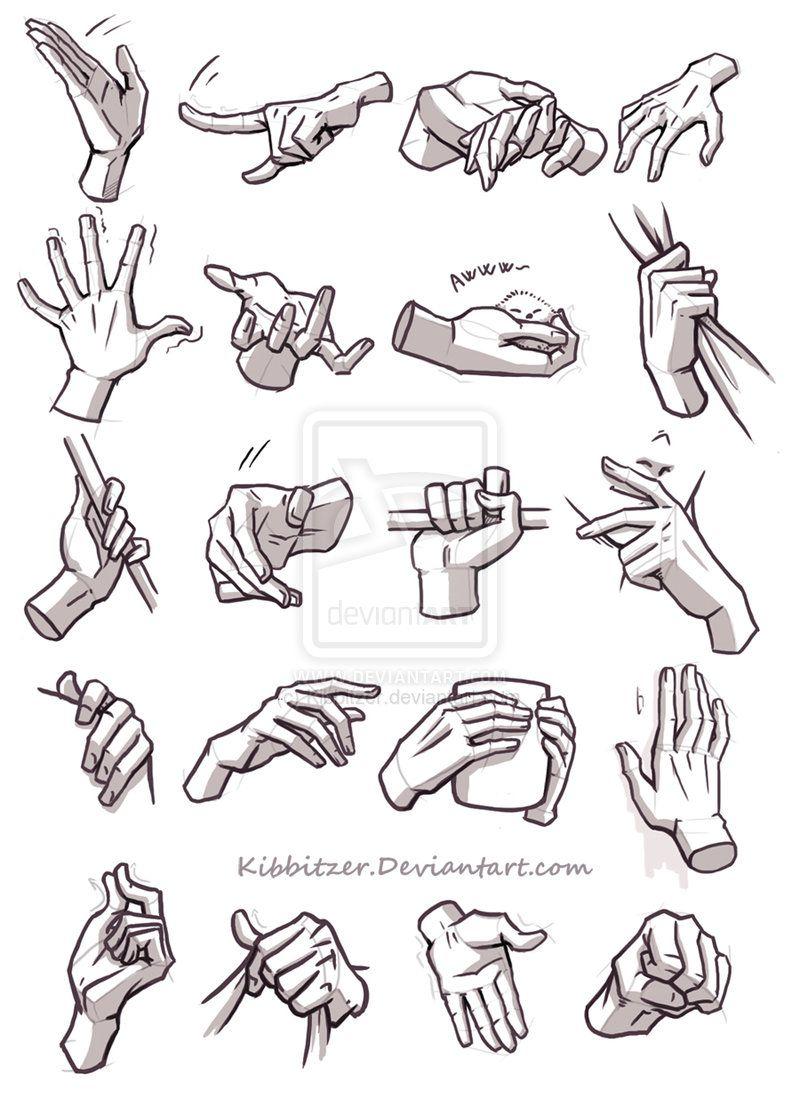 Hands Reference 4 By Kibbitzer On Deviantart Hand Drawing Reference Sketches Drawing Reference