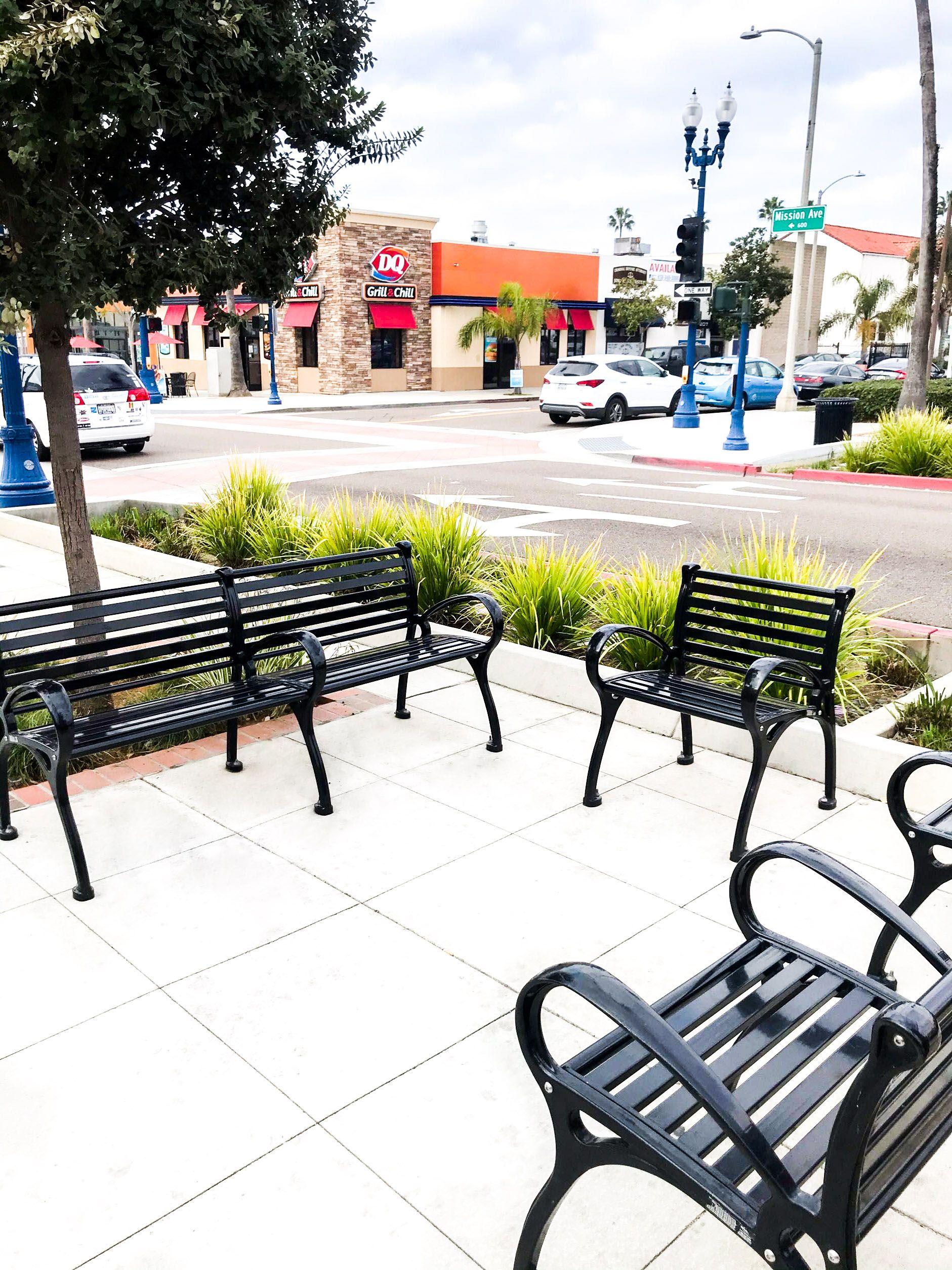 California Streetscape In 2020 Streetscape Design Design Bench With Back
