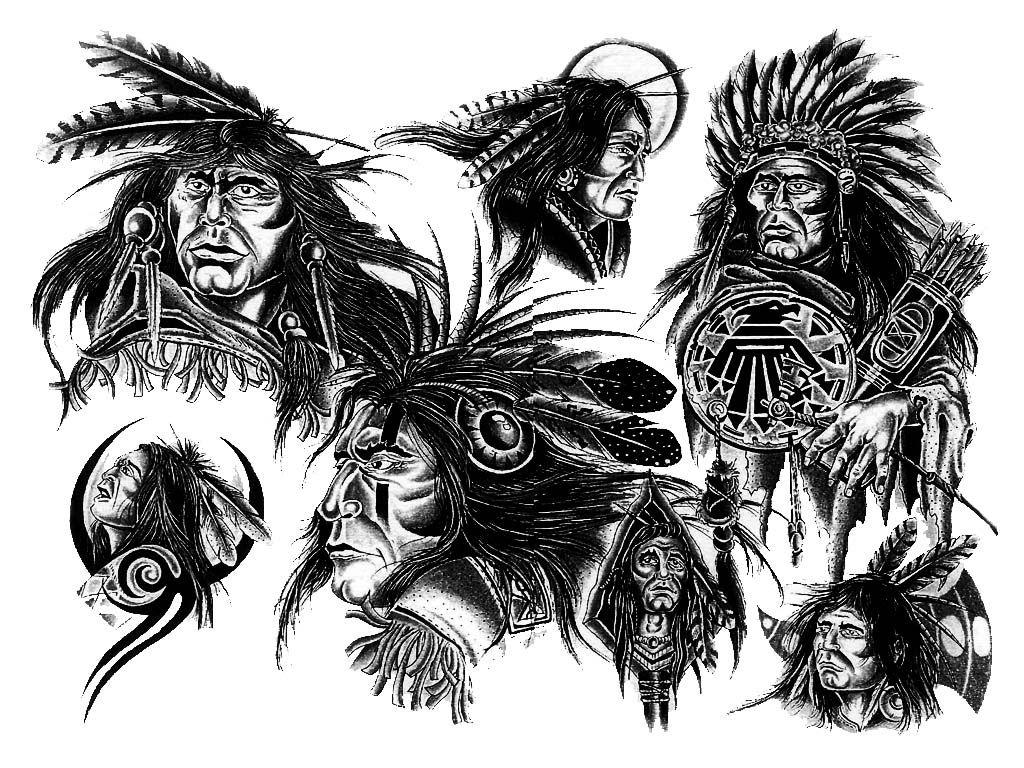 Native American Designs Native American Girl Tattoo