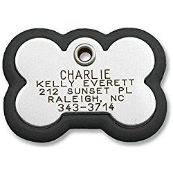 Luckypet Pet Id Tag Frame Tag Bone Shape Rugged Dog Tag With