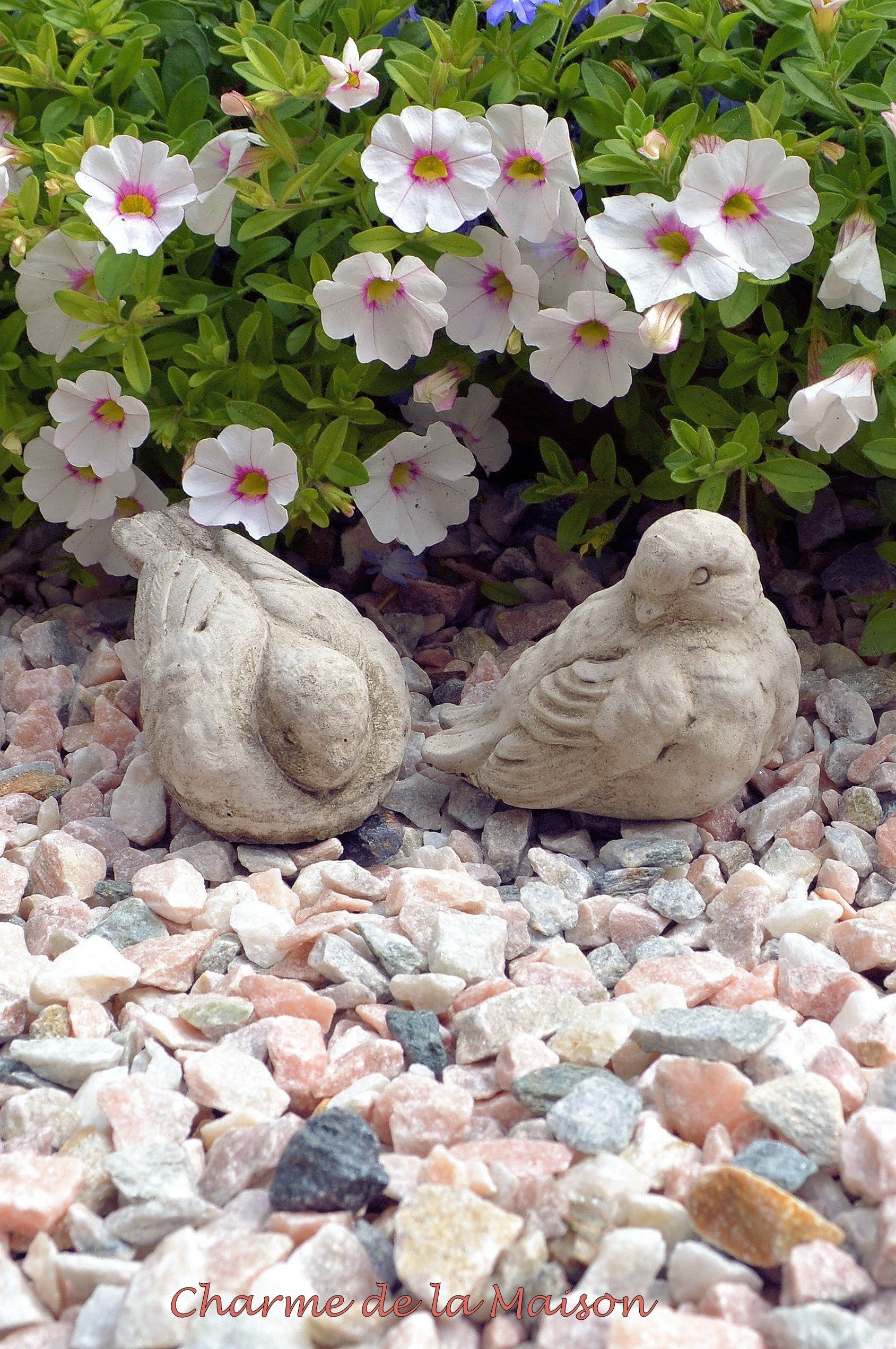 Deko Vogelpaar Englischer Steinguss Http Www Charmedelamaison De Gartendekoration Gartendekoration Garten Garten Deko