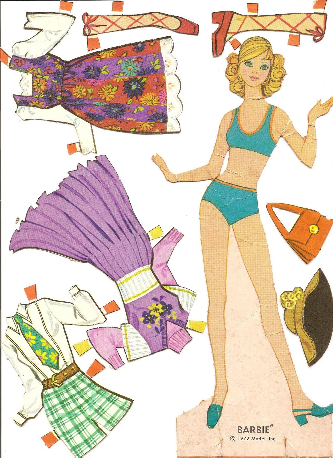 Mostly Paper Dolls: My BARBIE Paper Dolls, 1970 & 1972, I used to make my own clothes too.