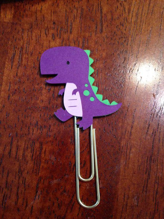 T-Rex Dinosaur bookmark paper clip