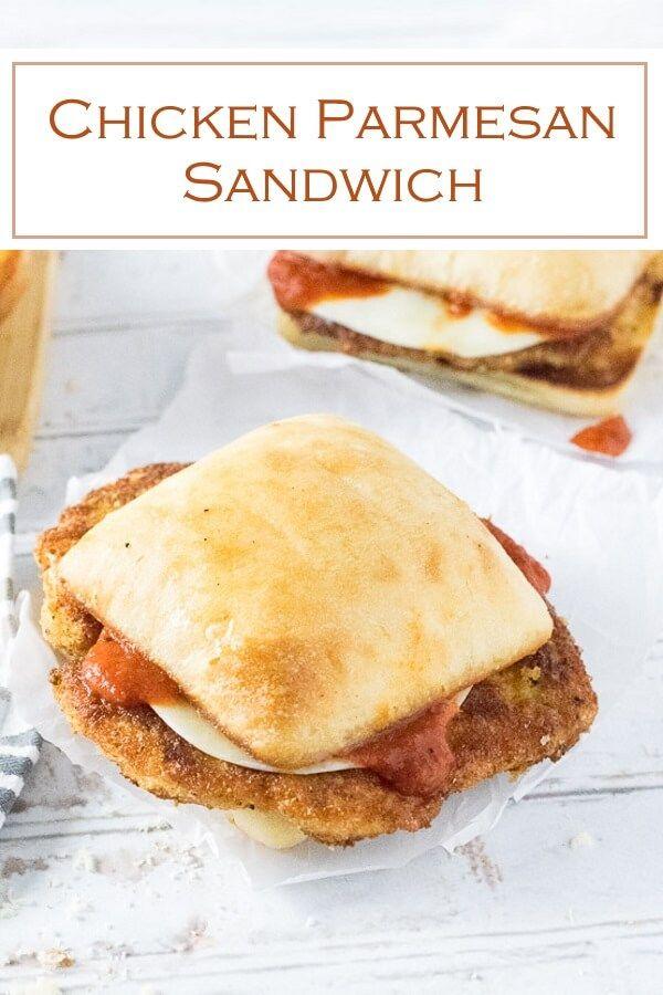 Chicken Parmesan Sandwich #chickenparmesan