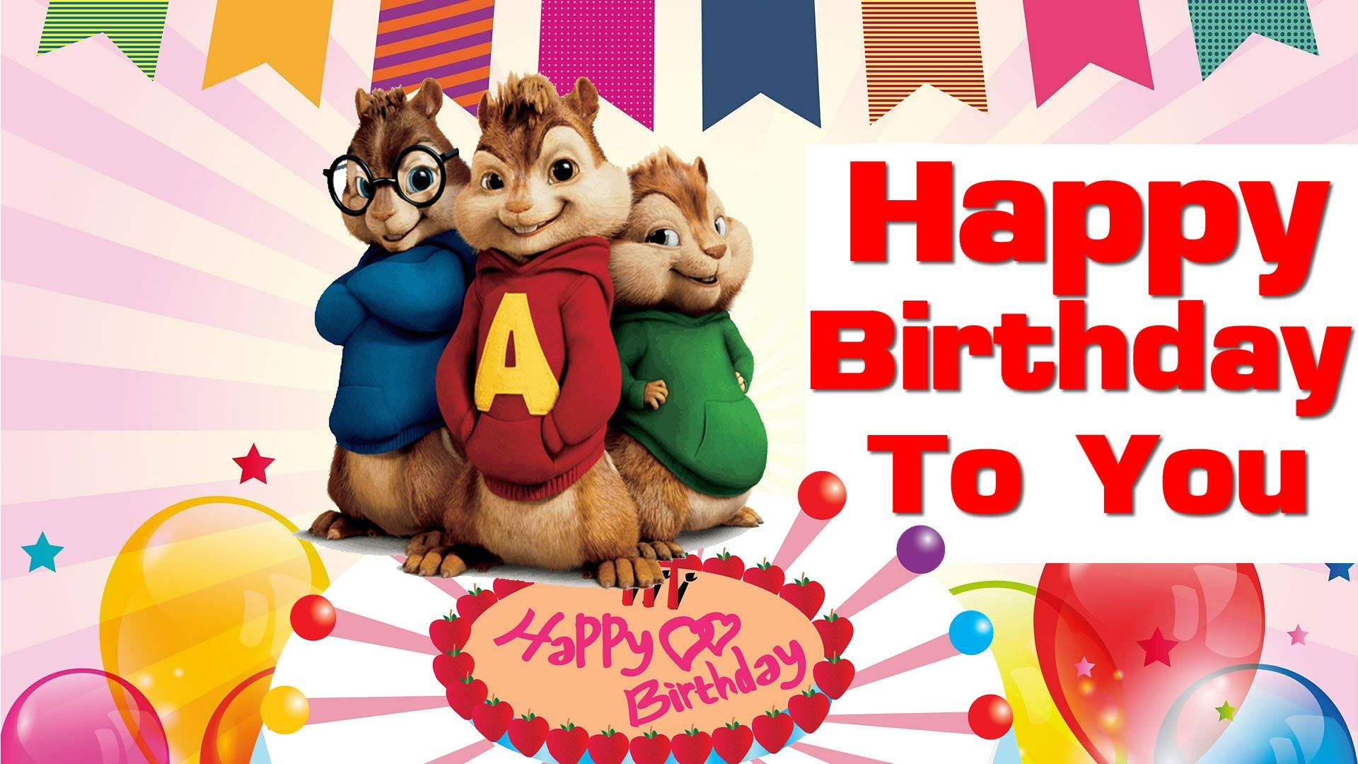 Alvin And The Chipmunks Birthday Alvin And The Chipmunks Happy Birthday Writing Greeting Card Collection