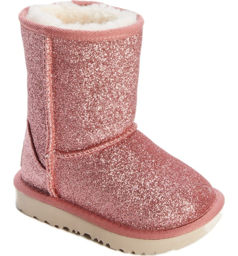 2e3a04358 Free shipping and returns on UGG® Classic Short II Glitter Boot (Walker,  Toddler