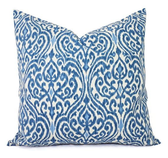 26X26 Pillow Insert Decorative Pillows  Two Decorative Pillow Covers  Blue And Beige