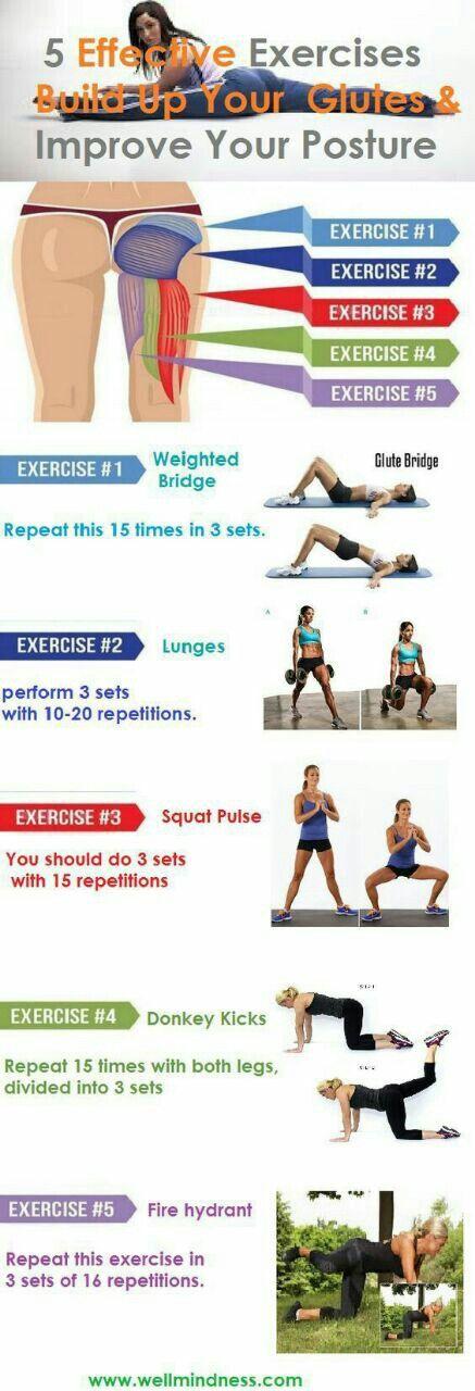 5 ejercicios para los glúteos y zonas cercanas!