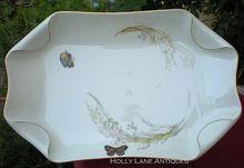 Antique Haviland Limoges Platter Meadow Visitors