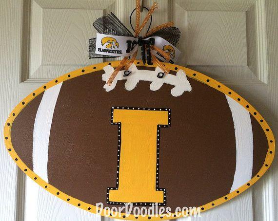 Iowa Football Door Hanger