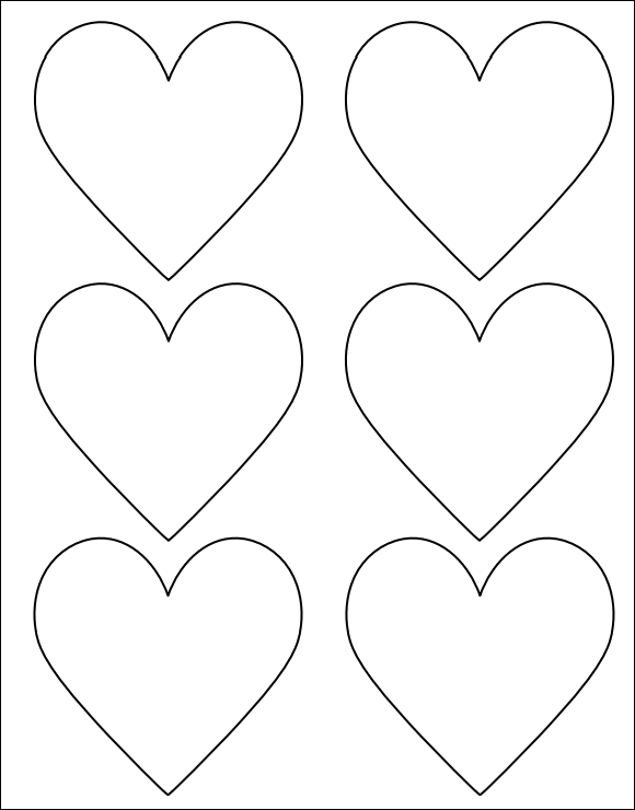 printable heart shape template grief and loss pinterest