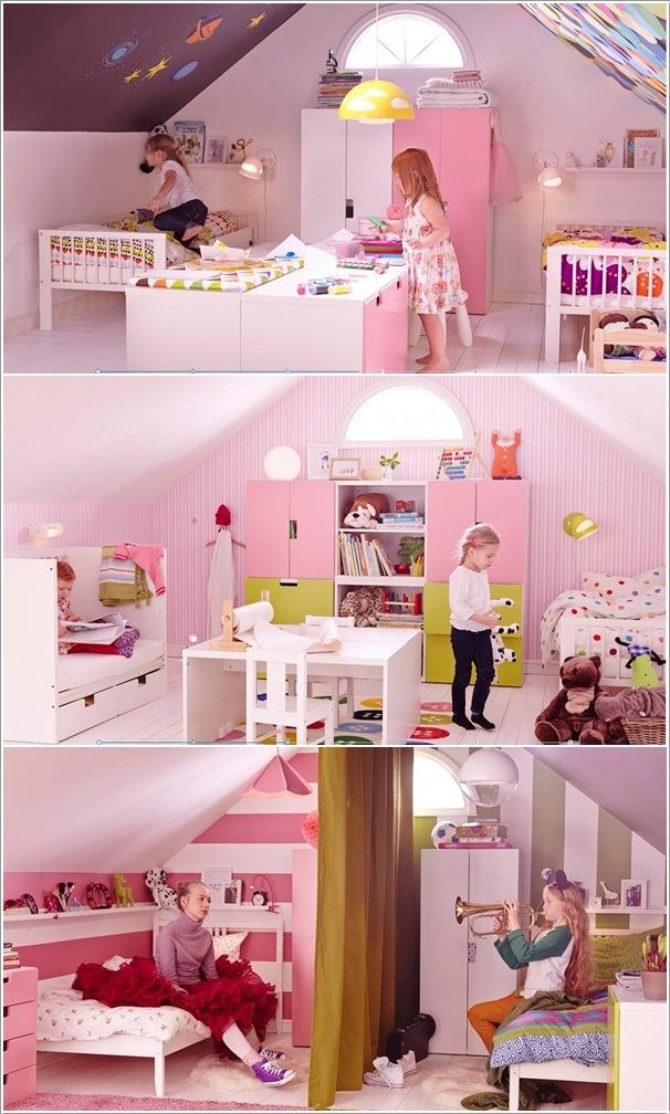 Hot IKEA Trends for the Upcoming Year 2014       EVERYTHING DIY     kids teens beds at ikea room pink ikea trends shared attic kids girls  bedroom design with modern furniture for the upcoming year 2014 remarkable  ikea kids
