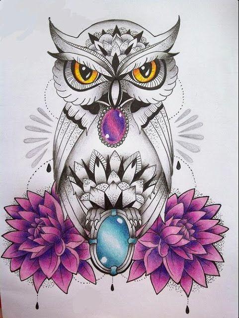 Corujas Tattoo Tatuagem Desenhos Coruja Tattoo Tatuagem